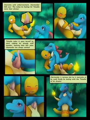 Charmander X Totodile 3 and Pokemon Comic Porn