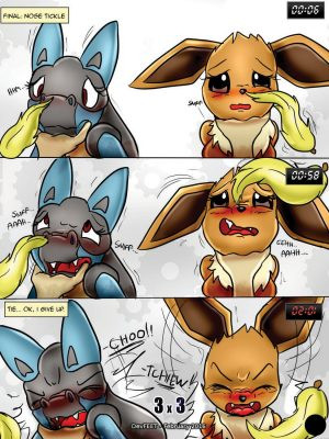 Tickle Fight – Lucario vs Eevee Pokemon Comic Porn