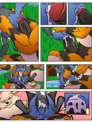 Wet An Arcanine, Drench A Riolu Pokemon Comic Porn
