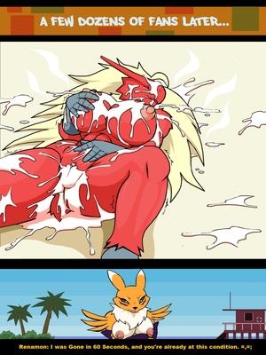 Blaziken (And Renamon) On The Beach Pokemon Comic Porn