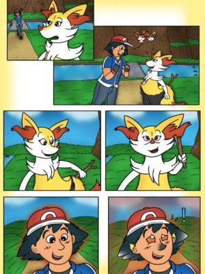 Ash Fennekin Pokemon Comic Porn